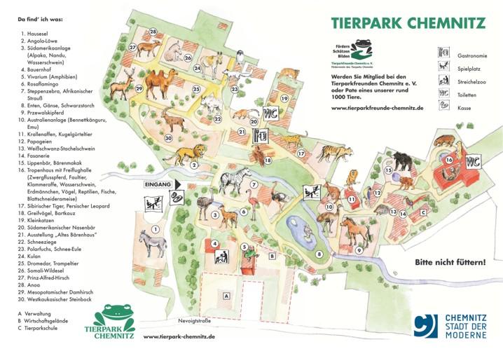 Plattegrond Tierpark Chemnitz
